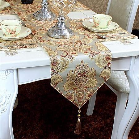 XJKLFJSIU-Table Caminos de Mesa/American Jacquard Mesa de Mesa ...