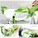 Highpot Handheld Automatic Dish Scrubber Brush Antibacterial Kitchen Dishwasher Soap Dispensing Brush (Green)