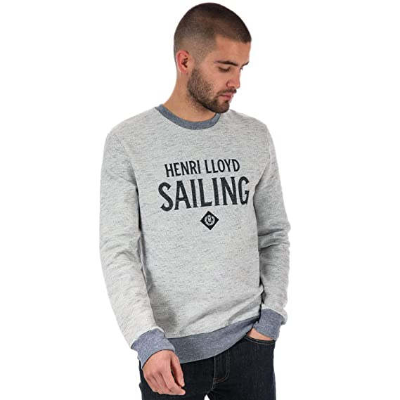 8d74ed51750 Henri Lloyd Mens Balderton Logo Sweat in Grey Marl: Henri Lloyd ...