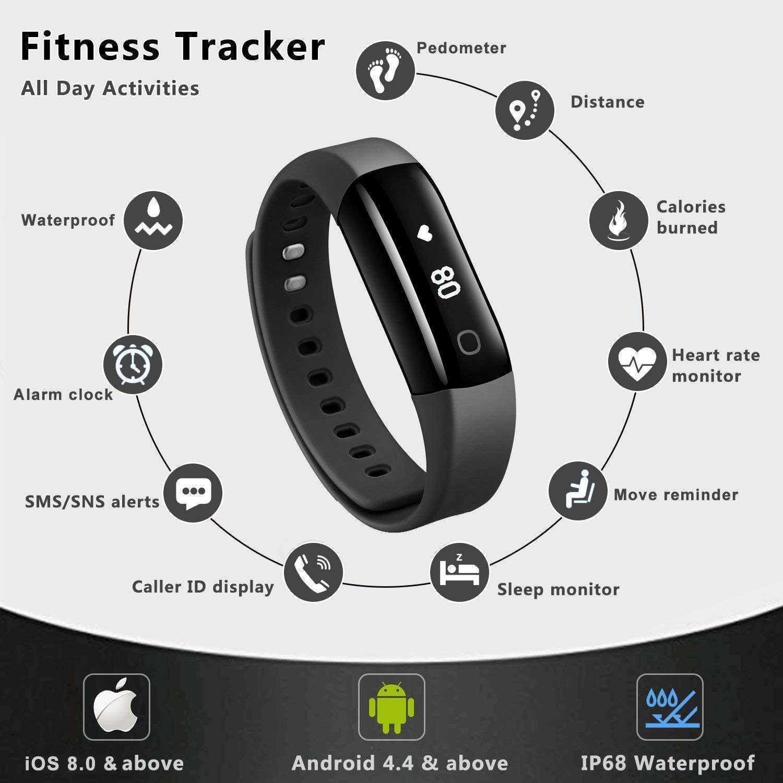 6ed943f8a39 Arbily Fitness Tracker Activity Tracker Sports Watch Smart Bracelet ...