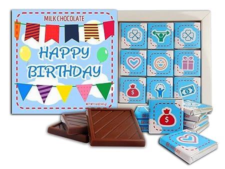 DA CHOCOLATE Feliz Cumpleaños Set de regalo de chocolate con ...