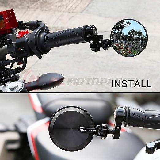 Reborn CNC Bar End Espejos Para Kawasaki Z800 2014 – 2016: Amazon.es: Coche y moto