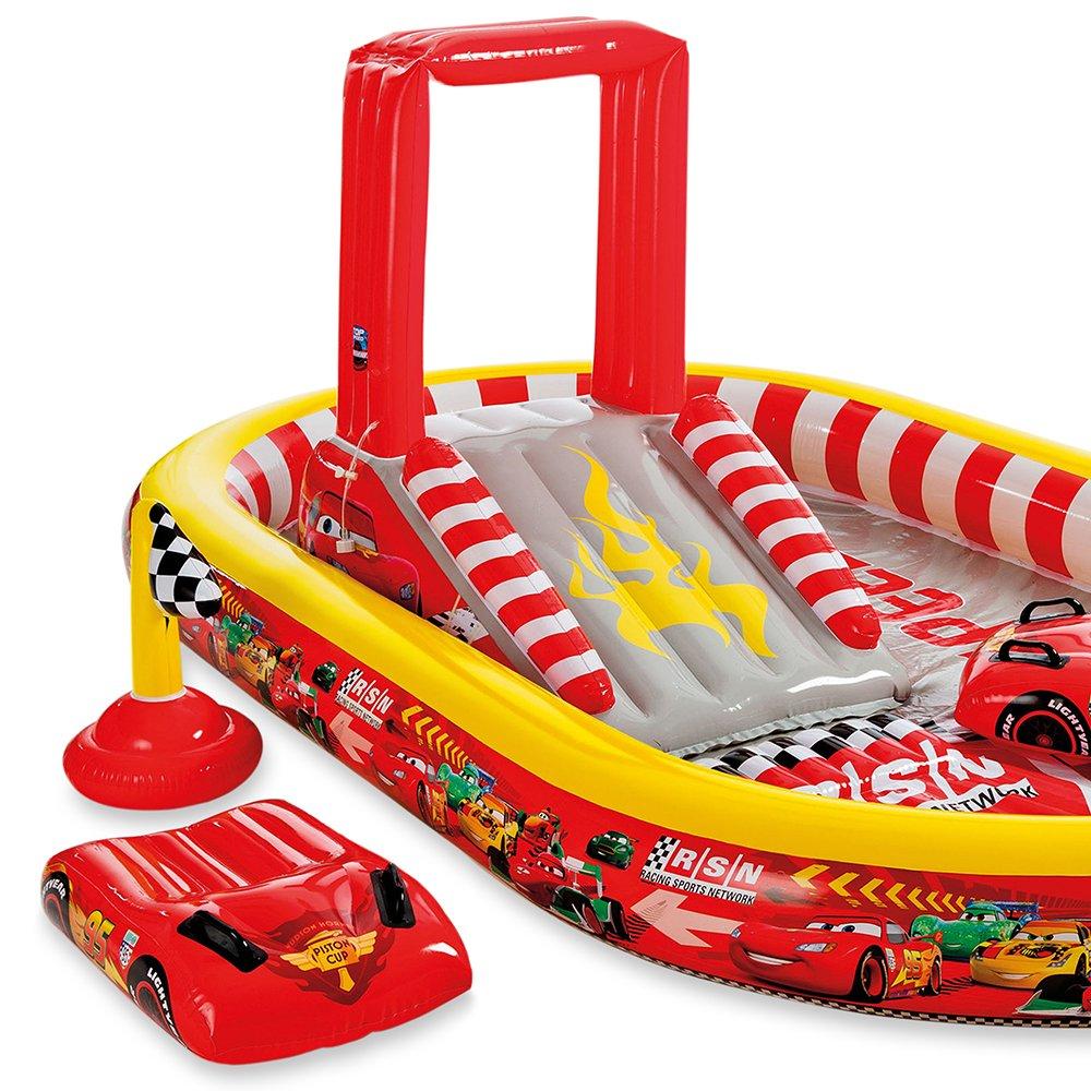 Intex - Centro de Juegos con diseño Cars, 348 x 198 x 121 cm (57136)