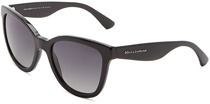 Dolce & Gabbana Gafas De Sol Mod. 4190 501/T3 Negro: Amazon ...