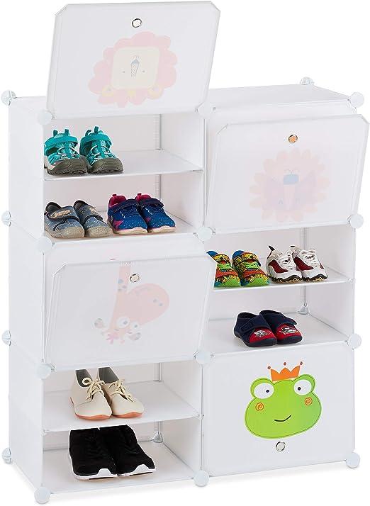 Steckregal Kinderzimmer Kleiderschrank Kinderschrank Regalsystem 7 Fächer Katzen