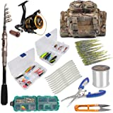 Dr.Fish Fishing Rod and Reel Combos Package Outfit Set Lines Lure Bait Accessories Fishing Carrier Bag Gear Organizer Freshwater Saltwater 2 Size
