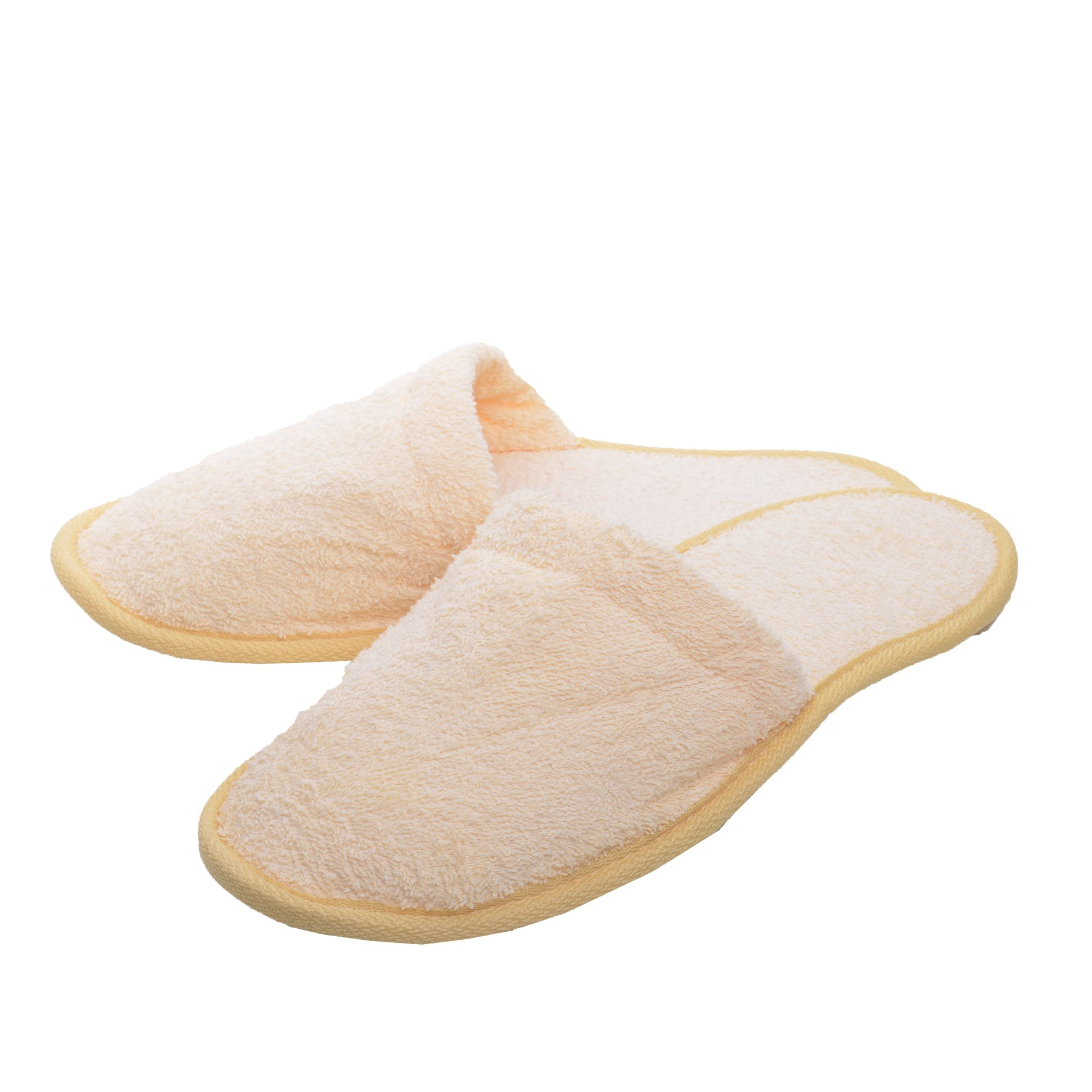 Minteks Hotel Spa Slippers for Women and Men, Washable Cotton Guests Slipper in Bulk Closed Toe Fit Sizes Btw 7-10 (Assorted | 6 Pairs)