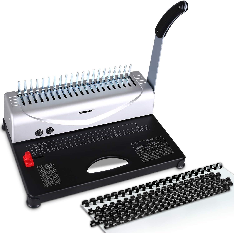 Máquina encuadernación, perforadora 450 hojas carta /A4/A5