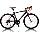 CANOVER(カノーバー) ロードバイク 700C シマノ14段変速 適応身長:165cm以上 CAR-012 (ADOONIS) アルミフレーム フロントLEDライト付