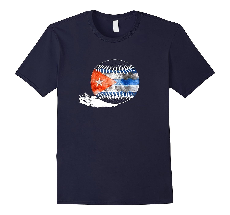 Vintage Baseball Cuba Flag T-shirt Cuban Pride-FL