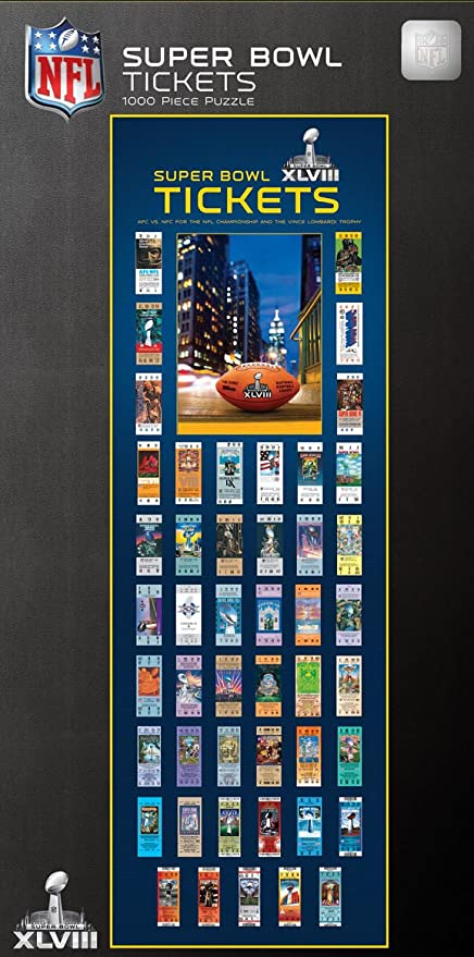 0a14f26a MasterPieces Puzzle Company NFL Super Bowl Tickets Panoramic Jigsaw Puzzle  (1000-Piece)
