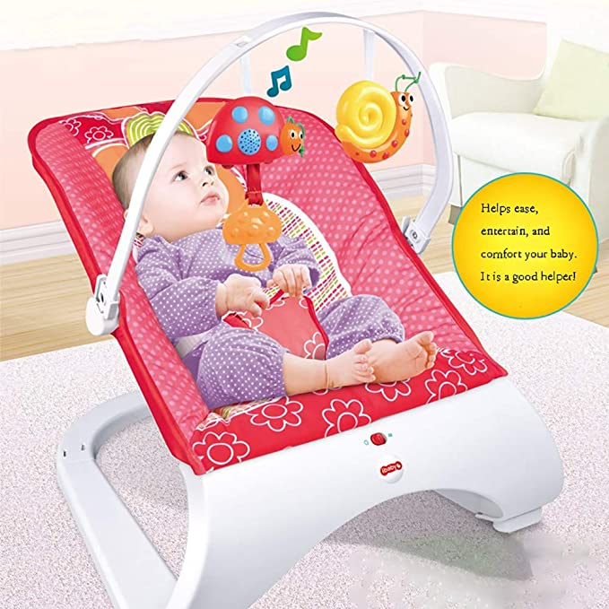 Rocker and Chair with Activity Centre with Removable dining table and Music Calming Vibrations,Suitable for New-Born to Toddler SHARESUN 3-in-1New-Born Baby Bouncer