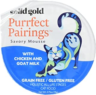 product image for Solid Gold Purrfect Pairings Savory Mousse Wet with Goat Milk Cat Food, 2.75oz Cup