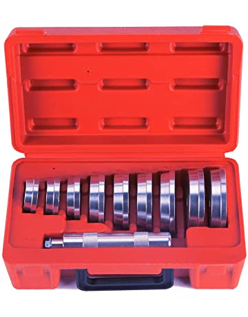 OrionMotorTech 10pcs Bearing Race and Seal Bushing Driver Install Set 9 Discs Collar Axle Housing with