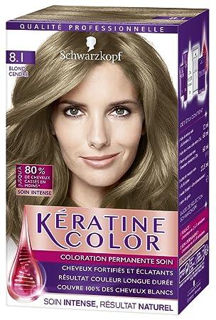 Coloration pour cheveux avec keratine