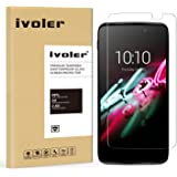 Alcatel Onetouch Idol 3 4.7'' Protection écran, iVoler® Film Protection d'écran en Verre Trempé Glass Screen Protector Vitre Tempered pour Alcatel Onetouch Idol 3 4.7''- Dureté 9H, Ultra-mince 0.20 mm, 2.5D Bords Arrondis- Anti-rayure, Anti-traces de doigts,Haute-réponse, Haute transparence- Garantie de Remplacement de 18 Mois