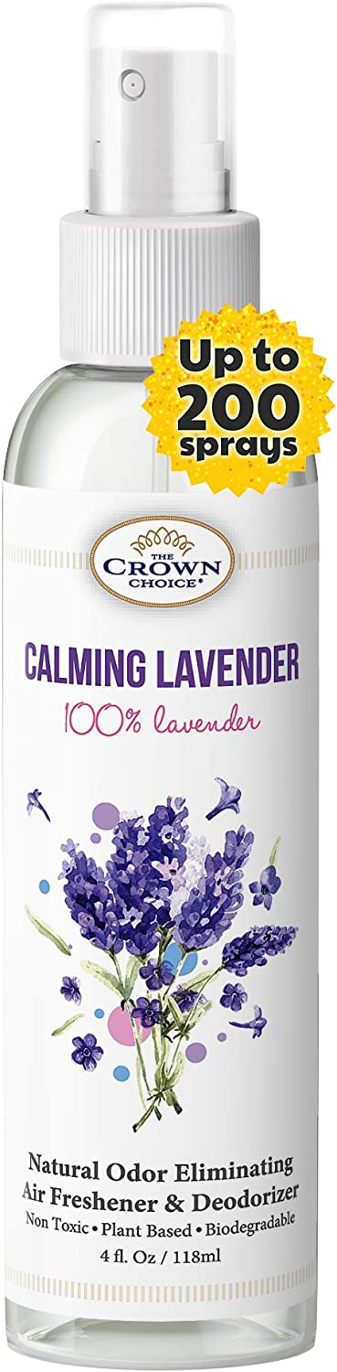 Lavender Air Freshener Aromatherapy Spray - Long-Lasting, Natural, Non aerosol, and Environmentally Friendly air freshener Spray neutralizes Odor - Safe for Humans and Pets
