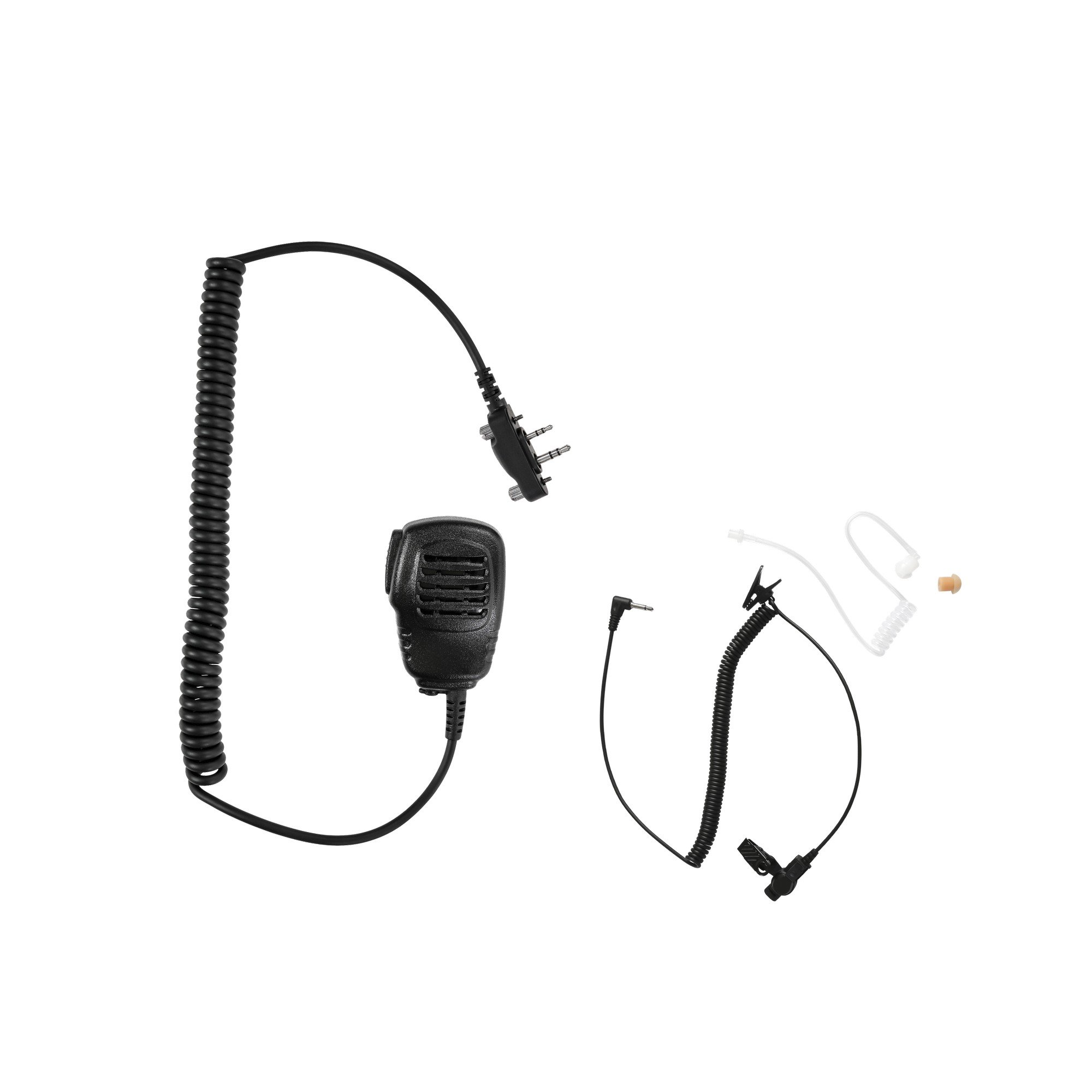 Maxtop APM100ARP35-I2 Light Duty Shoulder Speaker Microphone + Coil Extend Listen Only Earpiece for ICOM