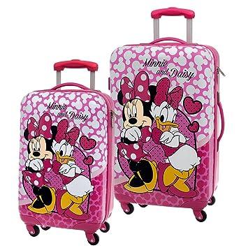Disney Minnie & Daisy Nice Day Juego de Maletas, 67.54 litros, Color Rosa