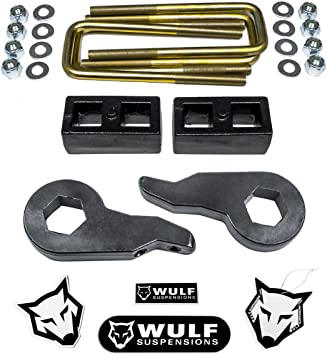 """WULF 3/"""" Front Lift Key Leveling Lift Kit For 00-06 Chevy Avalanche Suburban GMC"""