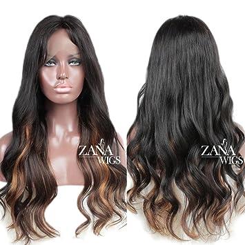 ZANA 100% Peruvian Remy Hair Lace Front Wig