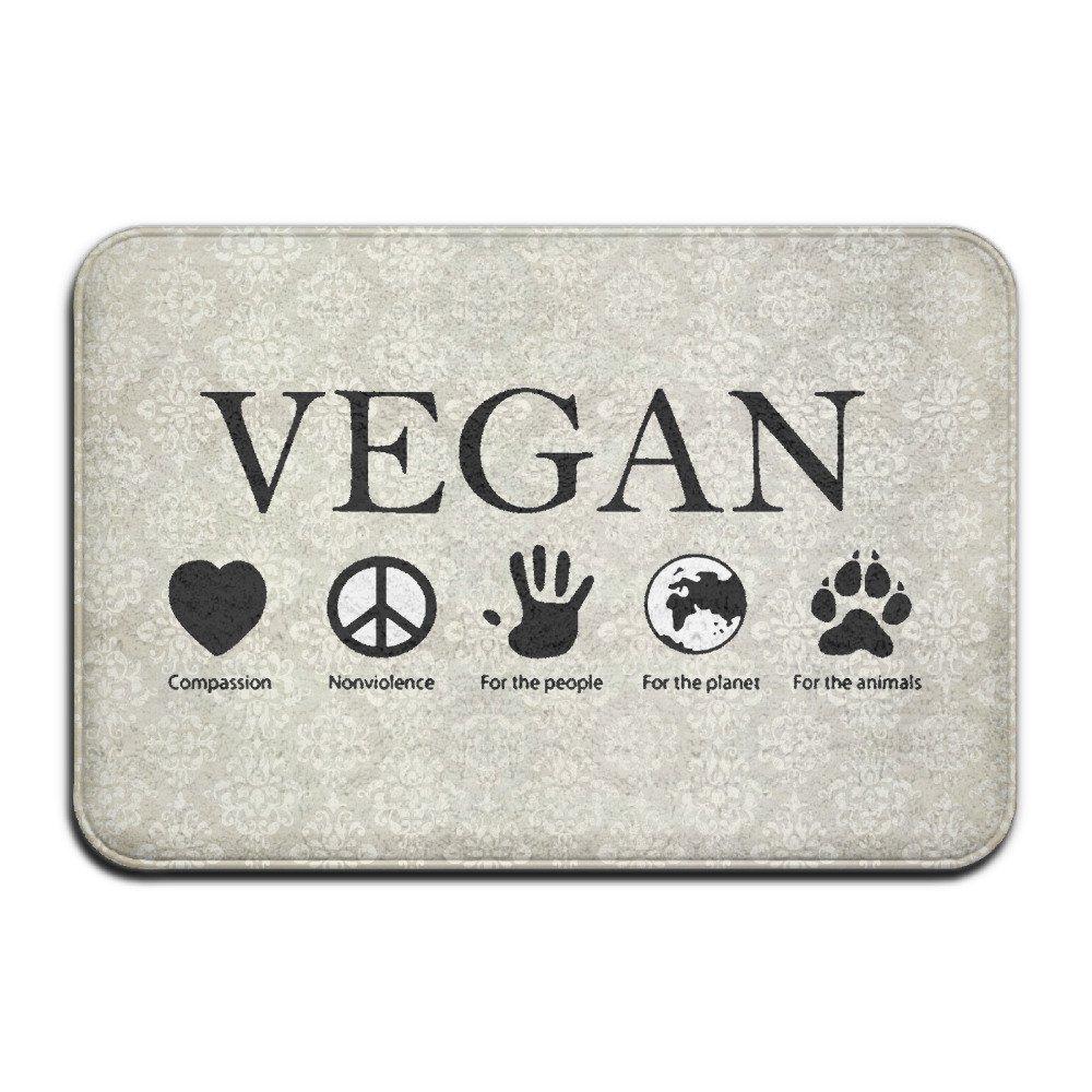 VSFDDD Animal Rights Vegan Vegetarian Indoor/Outdoor Doormat 2416 Inch