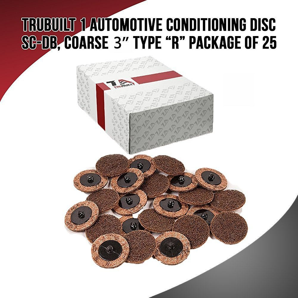 TruBuilt 1 Automotive Conditioning Disc SC-DB, Coarse 3'', Type R   Package of 25 3 inch Grinding Disks   Compare to 3M 07485 ROLOC 3'' Coarse Surface Conditioning Discs by TruBuilt 1 Automotive (Image #2)