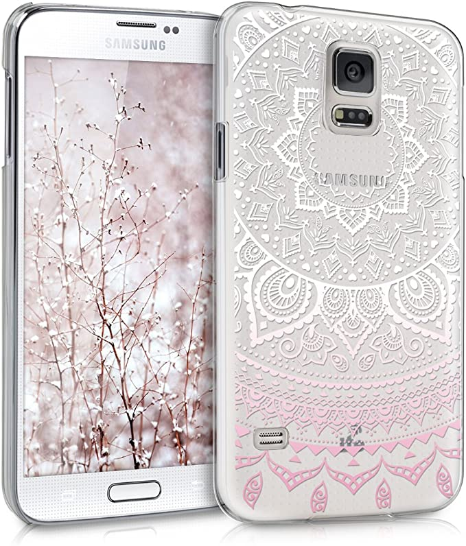 kwmobile - Carcasa para Samsung Galaxy S5/S5 Neo – Funda para Samsung Galaxy S5/S5 Neo – Carcasa para teléfono móvil en diseño de Sol Indio, Rosa, Blanco y Transparente: Amazon.es: Electrónica