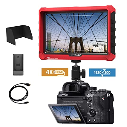 A7S 7 Inch On Camera Field DSLR Monitor 1920x1200 IPS Supports 4K HDMI  Input Loop Output Camera-top Screen Compatible DSLR Mirrorless Camera Sony  A7S