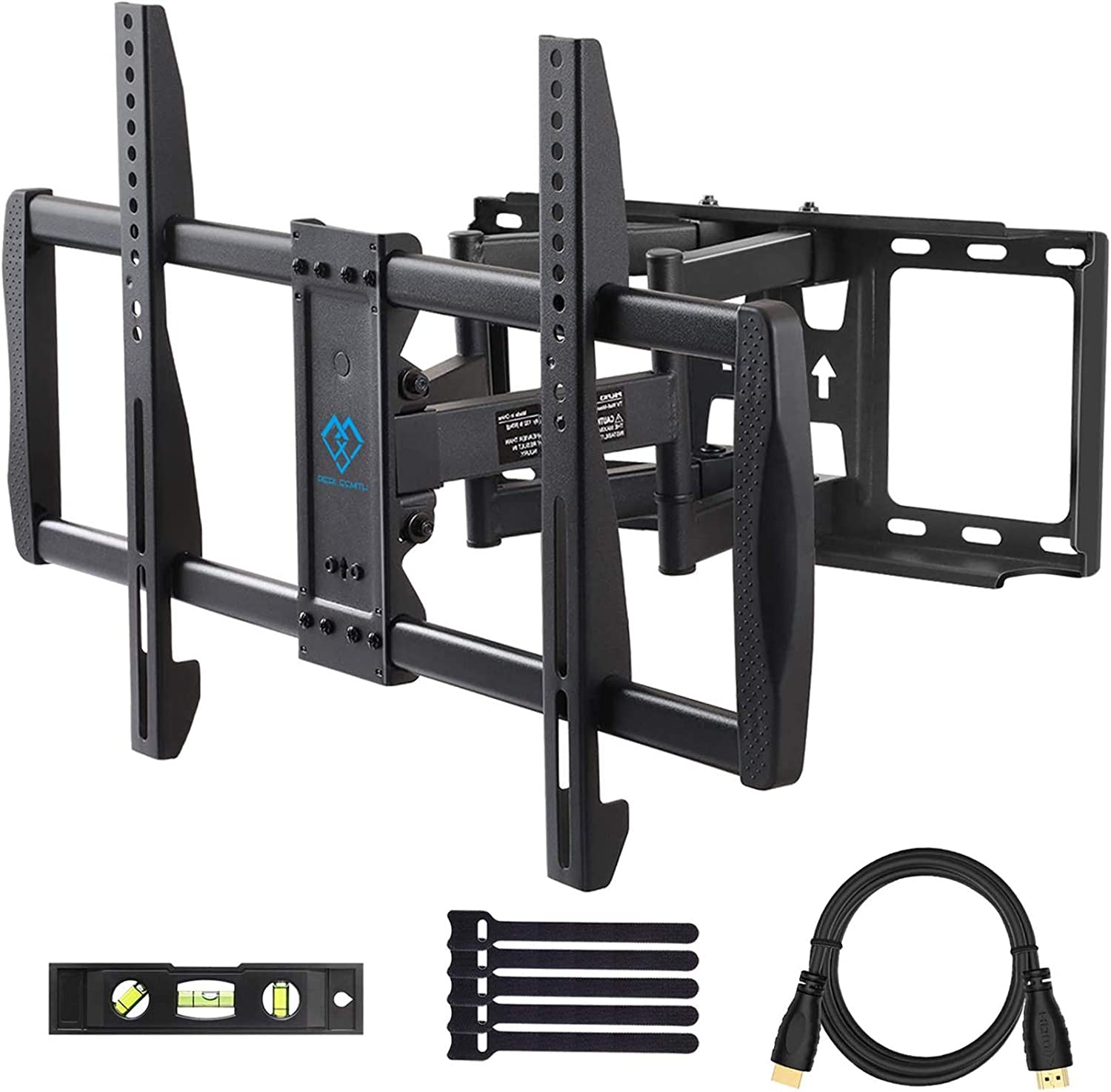 Dual Articulating Arms Wall Mount TV Bracket Supports TVs up to ...