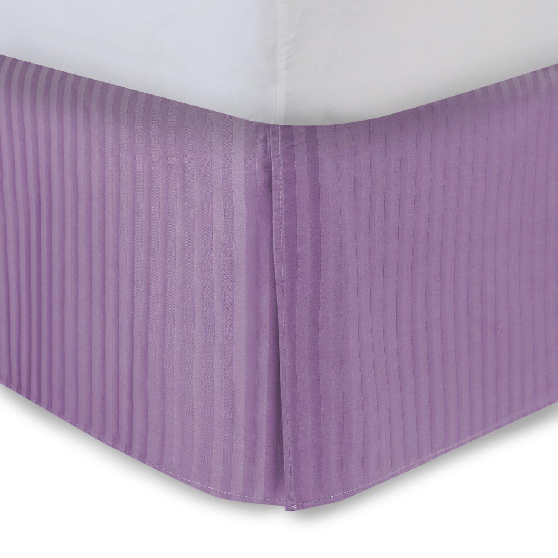 ハーモニー レーン仕立て ベッドスカート サテン ストライプ ベッドスカート(スプリットコーナー付き)(全サイズ、全10色) Olympic Queen - 21