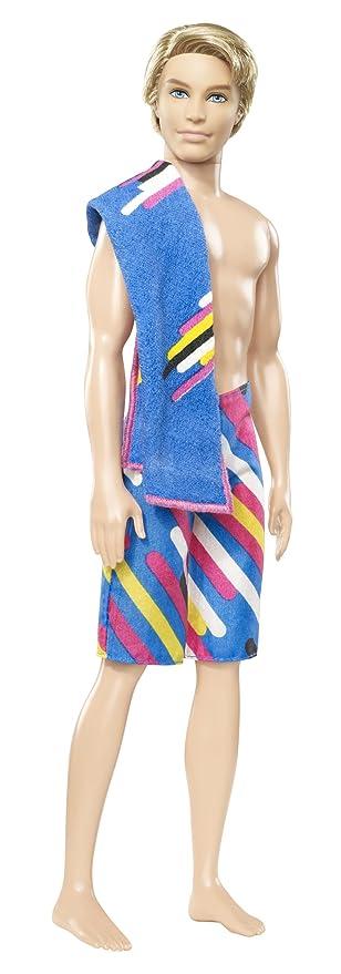 Amazon.com: Barbie – Muñeco Ken traje de baño, incluye ...