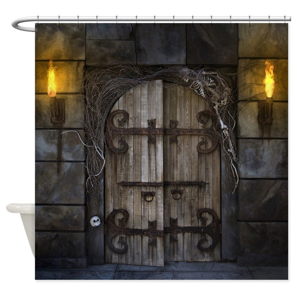 Halloween shower curtain - A Doorway To Something Dark And Creepy Invitation To A Horror Bathroom
