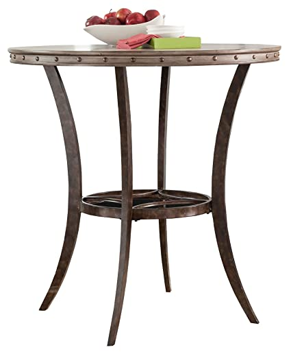 Amazon.com: Hillsdale Emmons Bar Height Bistro Table, Washed ...