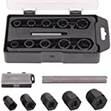 MultiWare Twist Sockets Locking Wheel Nut Remover Non Slip Damaged Broken Studs Rounded Bolts 11PCS