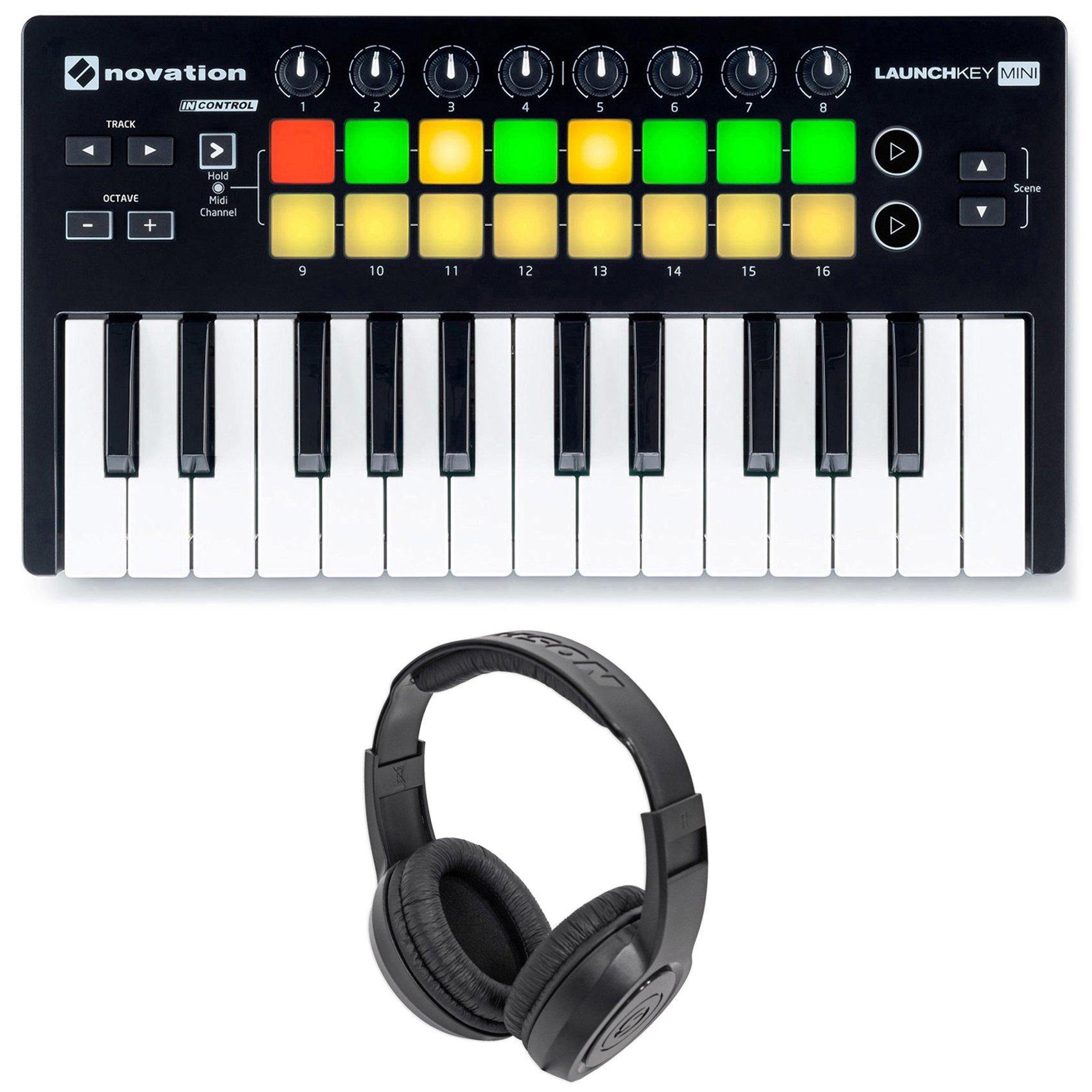 Novation LAUNCHKEY MINI MK2 25 Key USB Keyboard Controller+Headphones by Novation