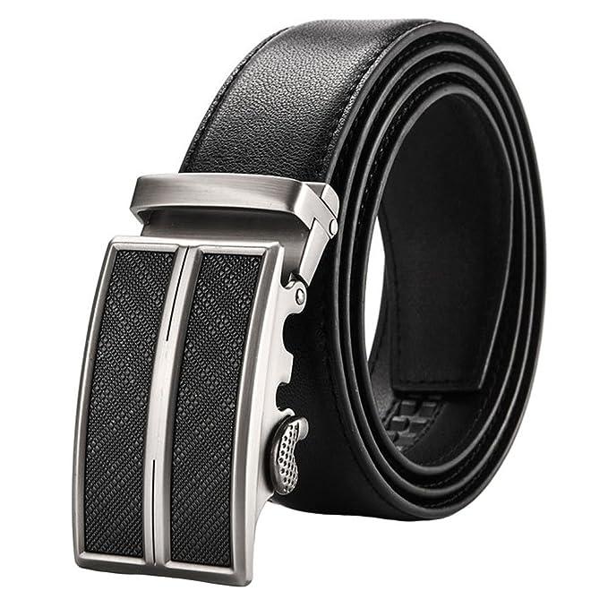 GTUKO-Cinturón Cinturón Para Hombres Trinquete Piel Genuina Hebillas Automáticas Vestido Y Jeans 38Mm Más Ancho Recortar Para Ajustar: Amazon.es: Ropa y ...