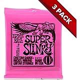 Ernie Ball 2223 Super Slinky Electric Guitar Strings 9 - 42 - 3-Pack