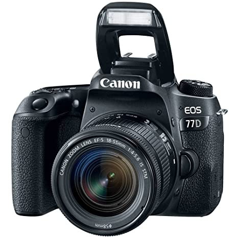 Amazon.com : Canon EOS 77D 24.2 MP DSLR Camera with EF-S 18 ...