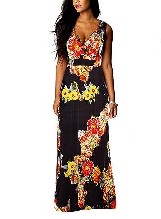 0f7e8826b4 New Women Summer Boho Floral Maxi Evening Party Dress Beach Long ...
