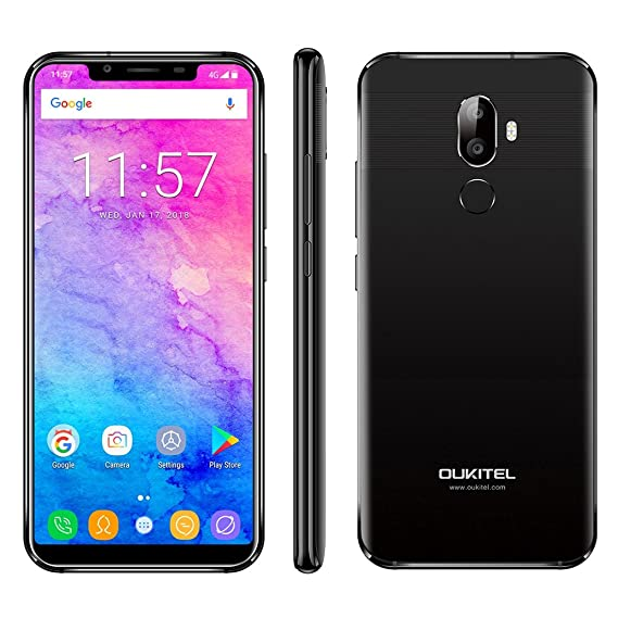 b181cab3a0a Oukitel U18 5.85-inch 21 9 Full Screen Face ID 4GB RAM 64GB ROM MT6750T  1.5GHz 4000mAh 4G Smartphone  Amazon.in  Electronics
