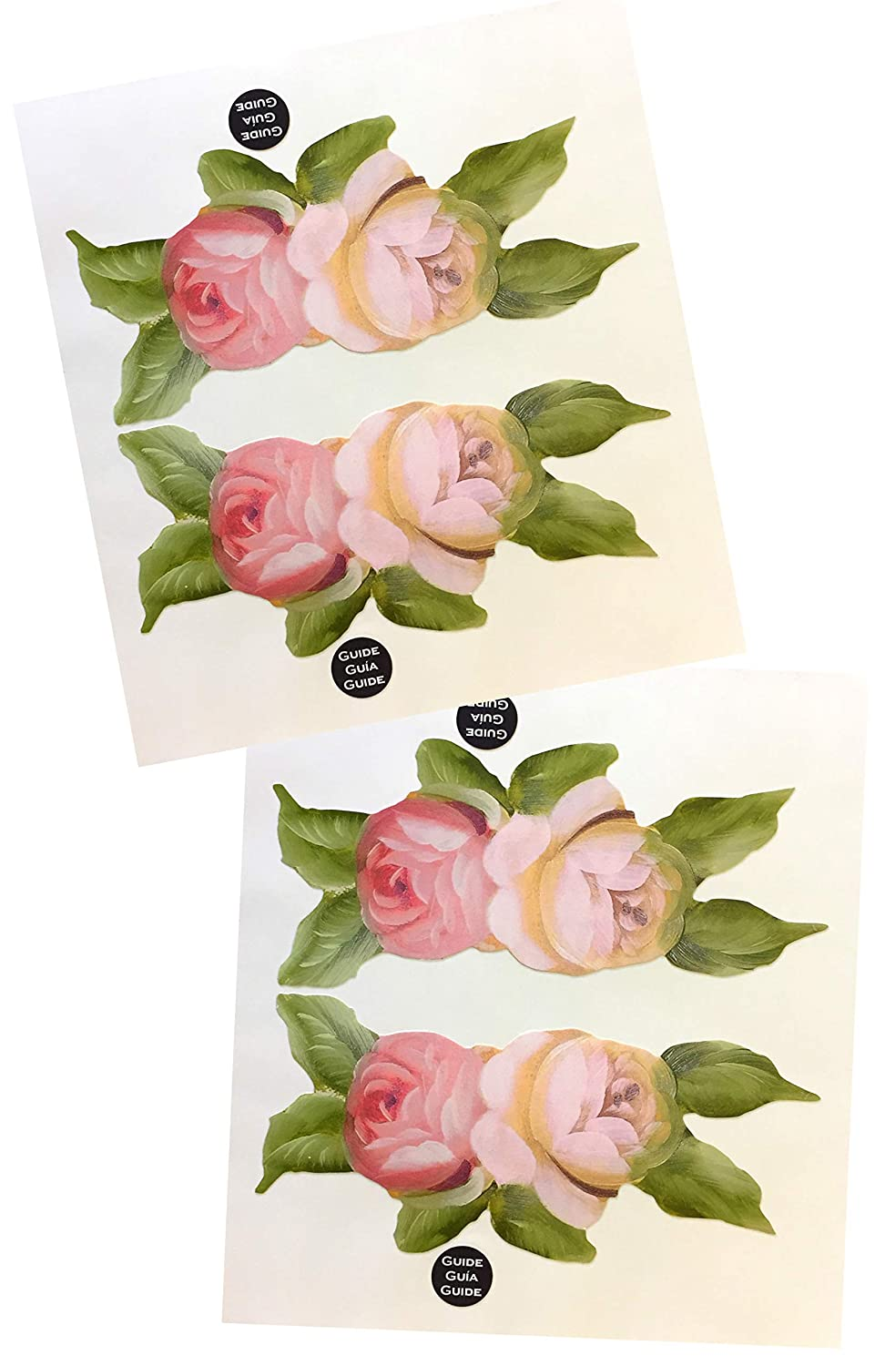 Ka mixer decal cover kit 2x victorian vintage rose flower double stickers red pink cream and white designed to fit all kitchenaid stand mixers mixer