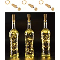 3-Pack AnSaw USB-Rechargeable Wine Bottle String Light (Warm White or Cool White)