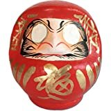 """Daruma doll (Dharma doll), Size No.1, Japanese traditional figurines that bring luck, Handmade by japan's top meister, Paper-mache, 4.5""""H"""