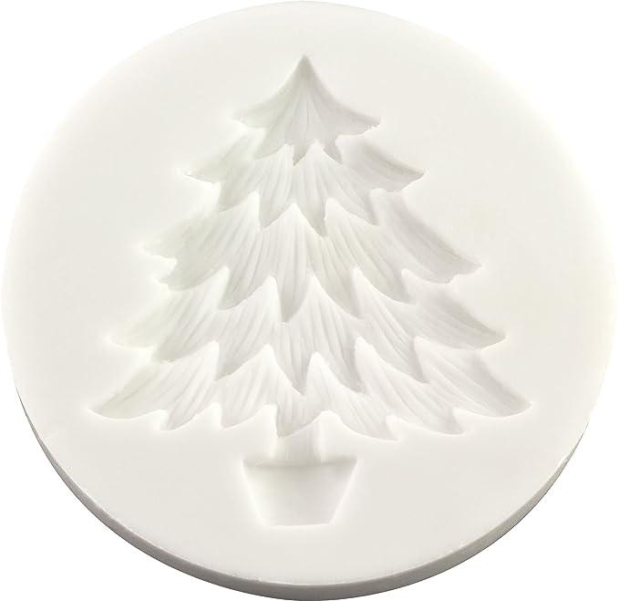 Lavoretti Di Natale Con Fimo.Fpc Sugarcraft Stampo In Silicone Con Albero Di Natale Per