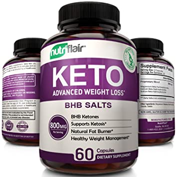 Keto Diet Pills 800mg Advanced Weight Loss Ketosis Supplement All Natural Bhb Salts Ketogenic