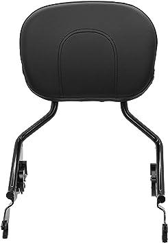 Passenger Backrest Sissy Bar w/Pad Quick-Detach & Docking Hardware Kit Compatible with 2014-2021 Harley Touring Road King Electra Road Street Glide FLH FLHX FLT FLHR FLTR