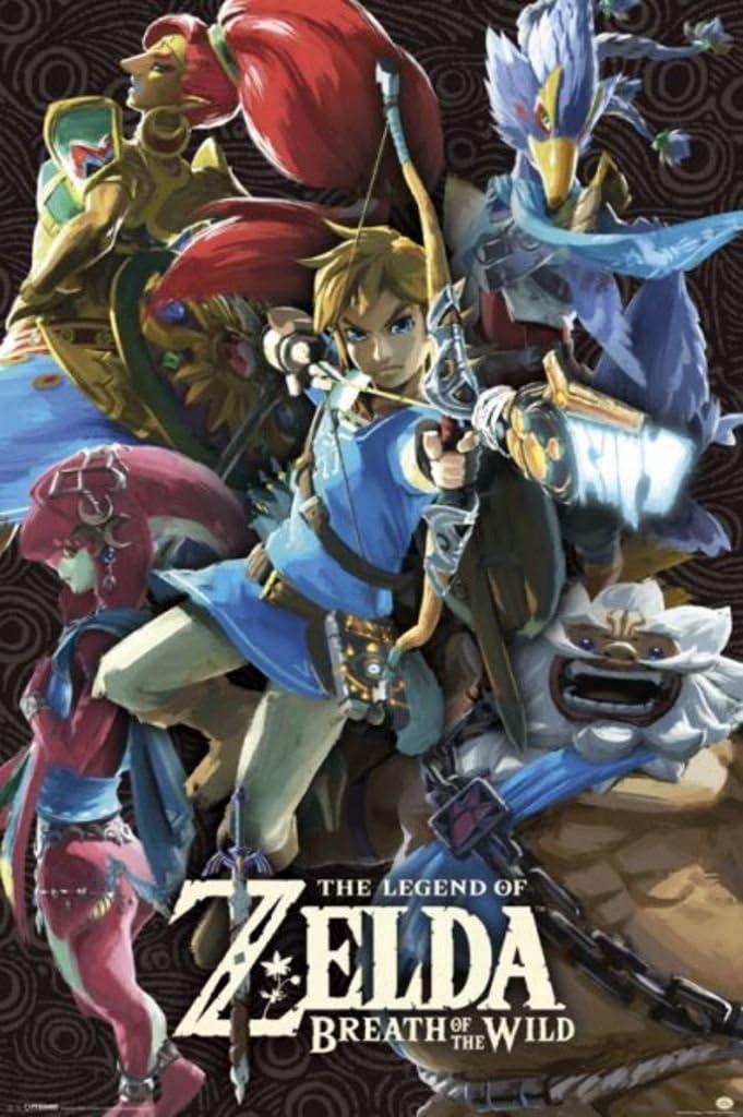 Póster The Legend of Zelda - Breath Of The Wild (61cm x 91,5cm ...