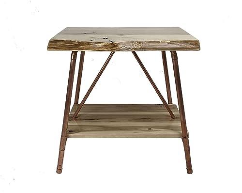 Niangua Furniture Live Edge Hickory Rustic End Table