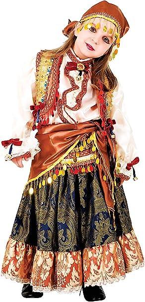 VENEZIANO 8919 - Disfraz de Carnaval de Zingara para niña de 7 ...